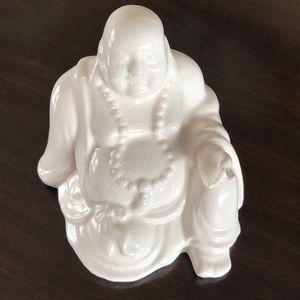 WHITE CERAMIC BUDDHA
